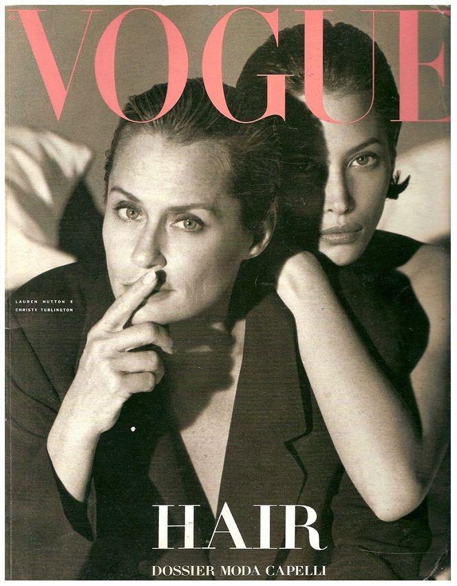 Vogue Icon : Lauren Hutton & Christy Turlington 1990