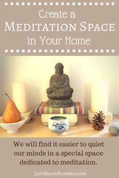 How to create a space for #meditation and stillness in your home that works for YOU.   #mindful #homedecor