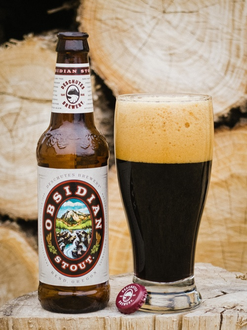 IN THE ISSUE: Deschutes Obsidian Stout. An American stout with strong espresso and dark chocolate flavors and molasses sweetness.