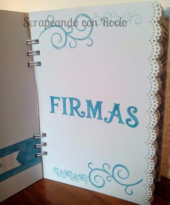 Álbum - libro de firmas de comunión. First communion album and guest book.
