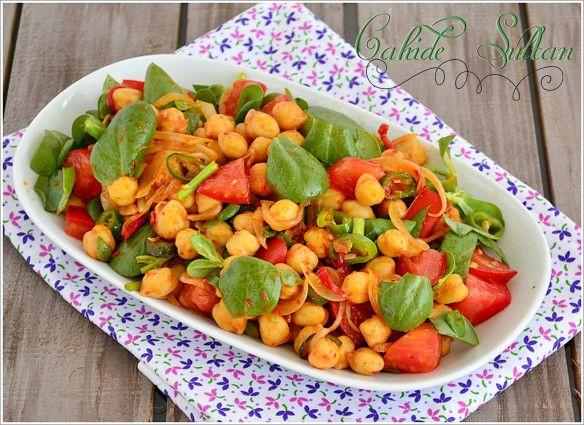 Semizotlu nohut salatası