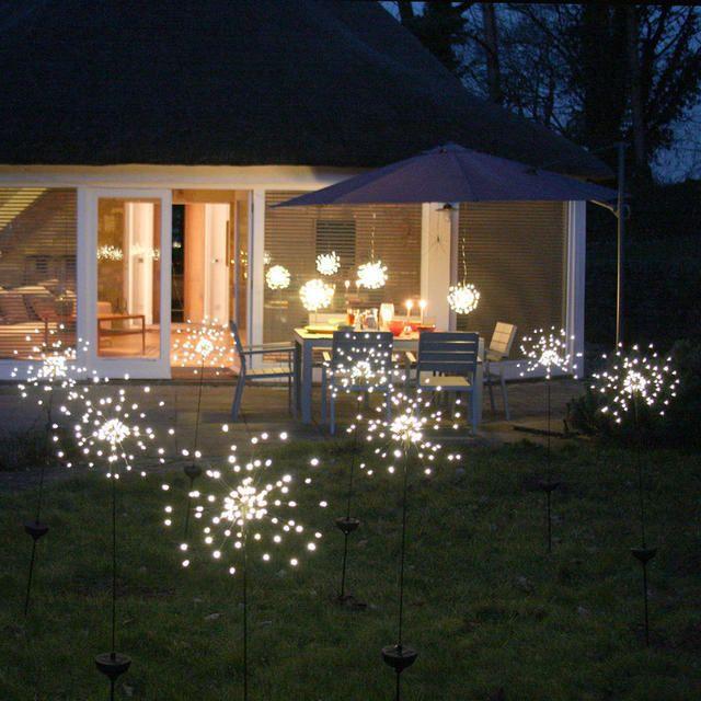 Allium Starburst Led Solar Outdoor Light Stake Solar Lights