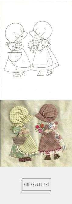 3 APPLIQUE PATCH PERSONNAGES sur Pinterest | Sunbonnet Sue, Patchwork et Patrons De Patchwork - created on 2016-08-21 22:47:59