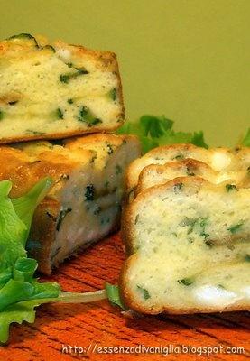 Plumcake salato ai due formaggi