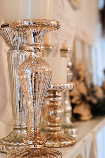 mercury glass for floral arrangements....we have this at our retail store Wallflower.
