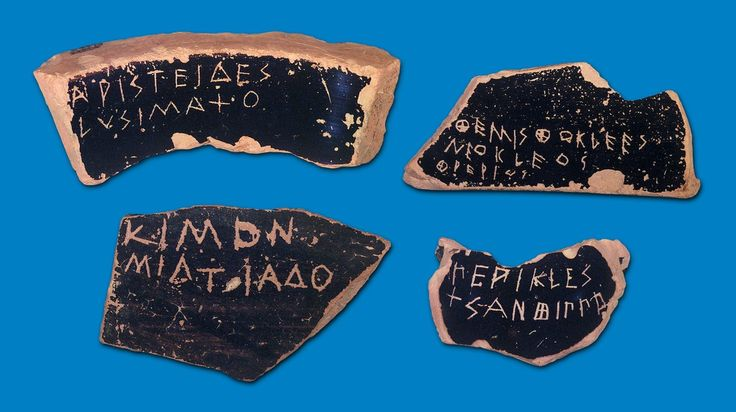 In addition to the legal assassination against Etruscan rulers of Classical Athens, a less extreme method for removing powerful Etruscan rulers from Athens was ostracism leading to exile. Studies of the handwritings proved that Classical Athens was a oral society that most of the ostracas were written by the same person. Scumbacks