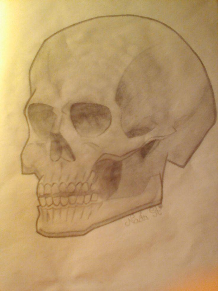 Easy skull drawing!