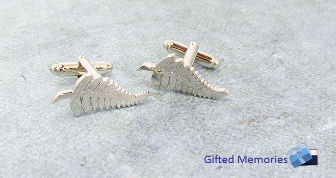 Mens Cufflinks - Silver Fern. Find it at www.giftedmemoriesjewellery.com.au