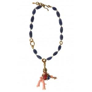 Collar de coral e iolitas www.sanci.es