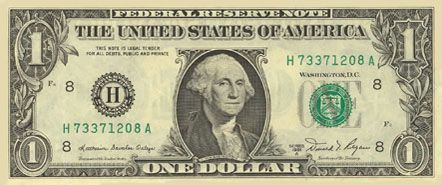 1 dolar - awers