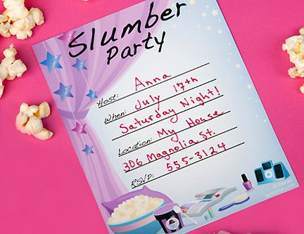 Spa Party Invitations Templates Free Free Printable Sleepover Party