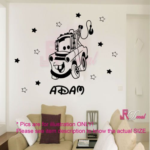 Large DISNEY CARS Decal MATER Kid Childrenu0027s Wall Stickers Removable Nursery