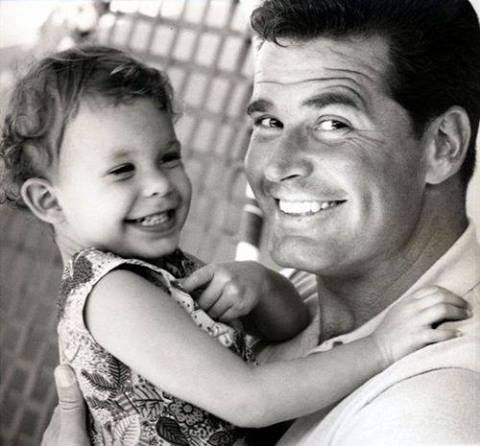 "Classic Movie and Television star James Garner has passed away at the age of 86...... Garner and daughter ""Gigi,"" circa 1960"