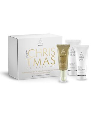 The Alpha-H Petite Christmas Collection - The Petite Christmas Collection features Alpha-H's best selling skincare to help you achieve a radiant, fresh complexion.  Designed to deliver a healthy radiant glow before your day begins, this collection features two of our award winning products, the Balancing Cleanser and Liquid Gold Perfecting Daywear as well as our favourite multi-tasking age blocker, the Daily Essential Moisturiser.