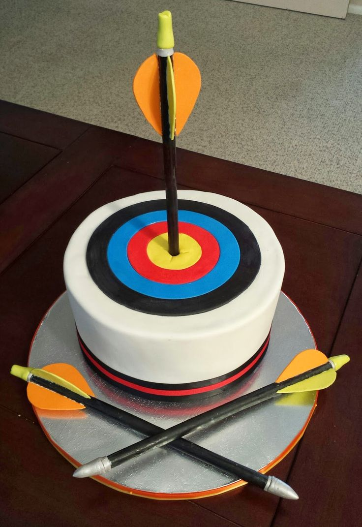 Archery Target and Arrows Birthday Cake