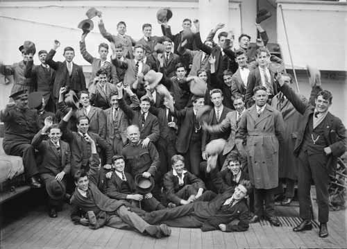 Between the two world wars, the vast majority of immigrants came from the United Kingdom and Ireland. Description from teara.govt.nz. I searched for this on bing.com/images