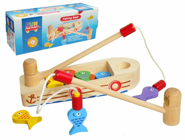 Machiko - a boutique for kids - Wooden Fishing Boat, Rod and Magnetic Fish, $24.95 (http://www.machikobaby.com.au/products/wooden-fishing-boat-rod-and-magnetic-fish.html)