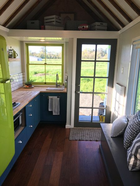 After living in a home with four other people, this tiny home's owners, Kieran and Bree, decided to purchase their very own home. They opted for an 8' x 20' tiny house RV from the Tumbleweed Tiny House Company.