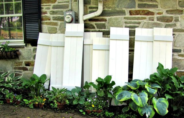 { How to make your own exterior Shutters }
