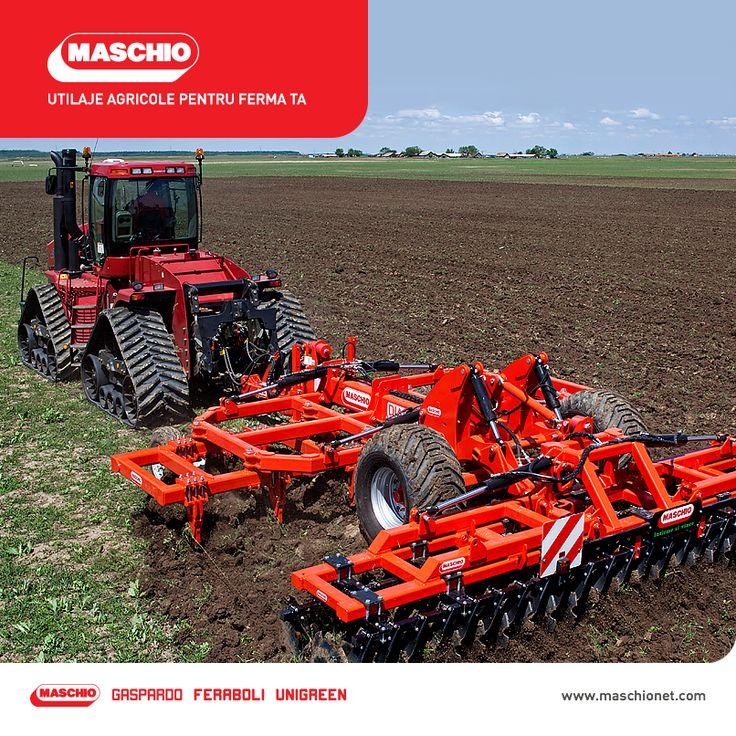 Maschio este un grup internaţional, fondat în anul 1964, specializat în producţia de echipamente agricole pentru arat, semănat, arhitectură peisageră, producţie de furaje, recoltare şi prelucrare a fânului. 30 de ani mai târziu, Maschio achiziționează grupul Gaspardo, mărindu-și aria de produse care include cultivatoare, grape rotative puternice, semănători de precizie, semănători de cereale, echipamente combinate cultivator-semănătoare, maşini de tuns iarba, maşini de erbicidat.