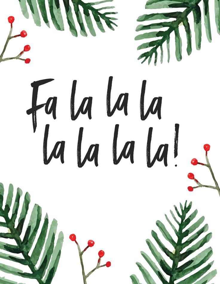 Four FREE holiday carol printables