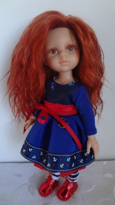 У нас новая Рыжеволосая девочка, волосики прошиты, глазки ручной работы, реснички мохер, наряд ручная работа Марина Лоскутова, обувь Светлана Кривец