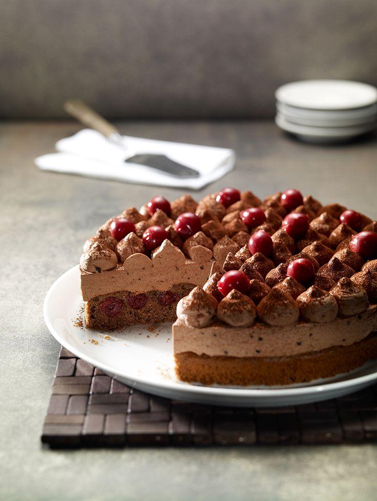 Schoko-Kirsch-Torte: Eine schnelle Torte mit Schoko-Sahne und Kirschen