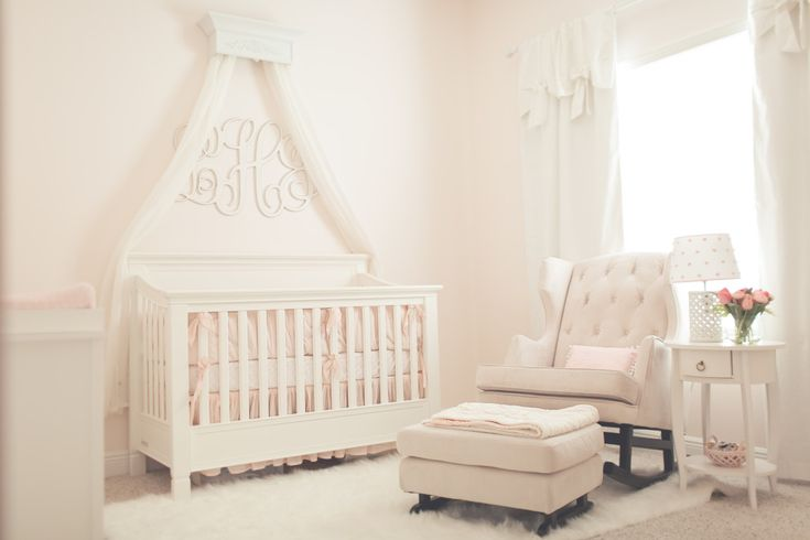 Pink Simplicity Nursery - pale pink and white make such a lovely room!