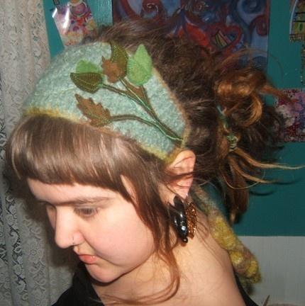 felted wool headband ♥: Bookmarks, Wool Headbands, Felt Wool, Crafty, Felt Headbands, Spring Felt, Leaves, Felted Wool, Awesome Headbands