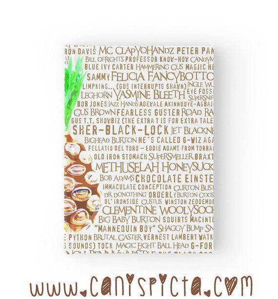 Psych Burton Guster Journal Pineapple Notebook by CanisPicta