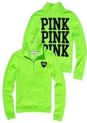 ShopStyle: Victoria's Secret Pink® Yoga Half-zip Pullover