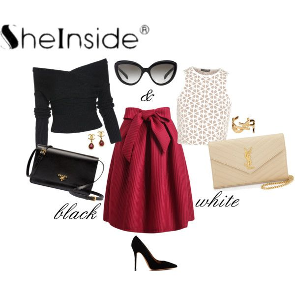 """""""B&W with SheInside."""" by thesunshinecorner on Polyvore"""