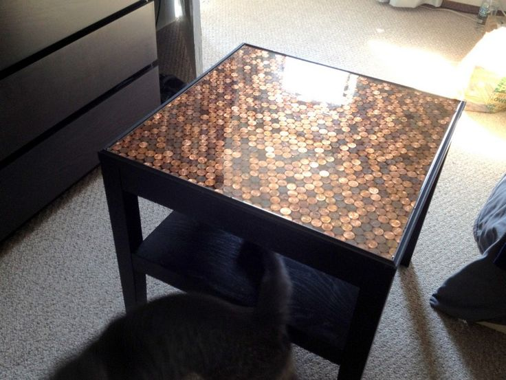 Give your coffee table a makeover using pennies | The Owner-Builder Network
