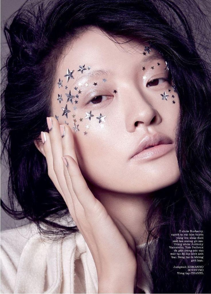 With a face decorated with stars, Hilda Lee shines in this beauty shot