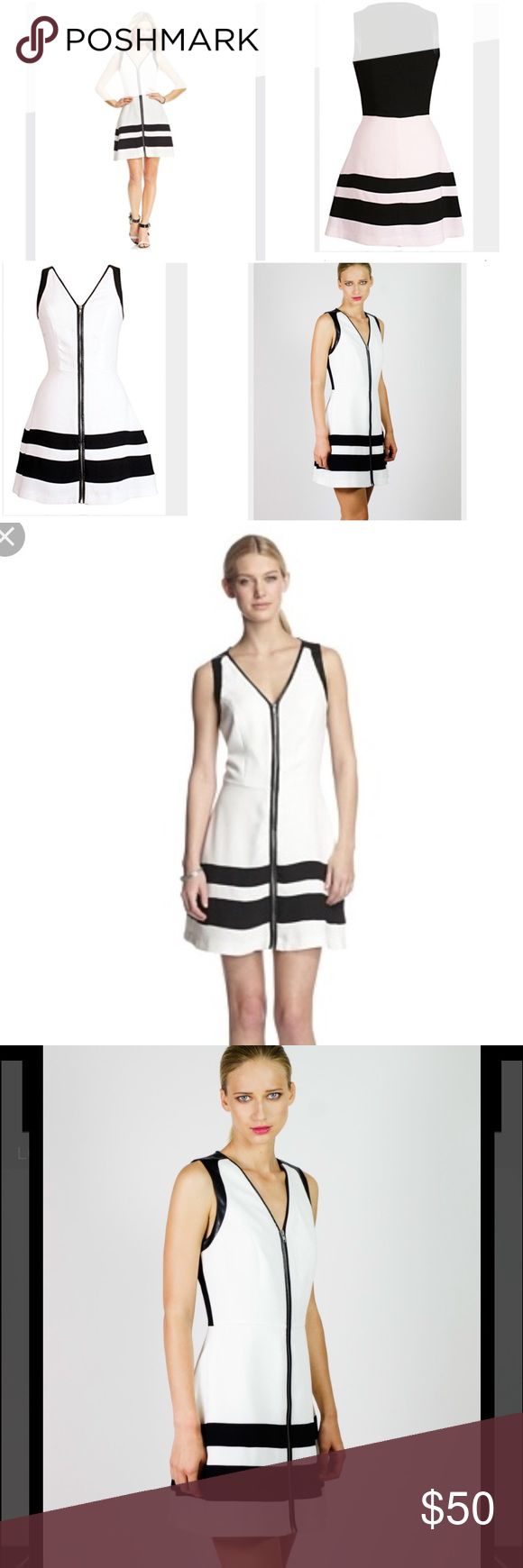 ✨W118 by Walter Baker camia colorblock dress✨ Brand new W118 faux leather colorblock dress. The faux leather is around the sleeves. Has very minor snag but barely noticeable. W118 by Walter Baker Dresses