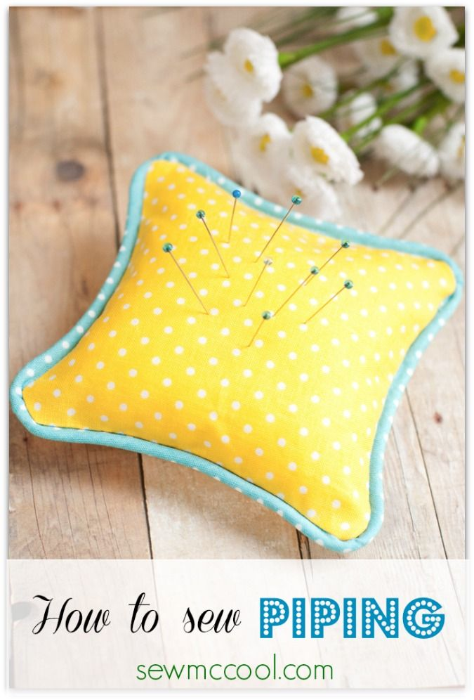 How to sew piping with sewmccool.com. Make this easy pincushion for practice!