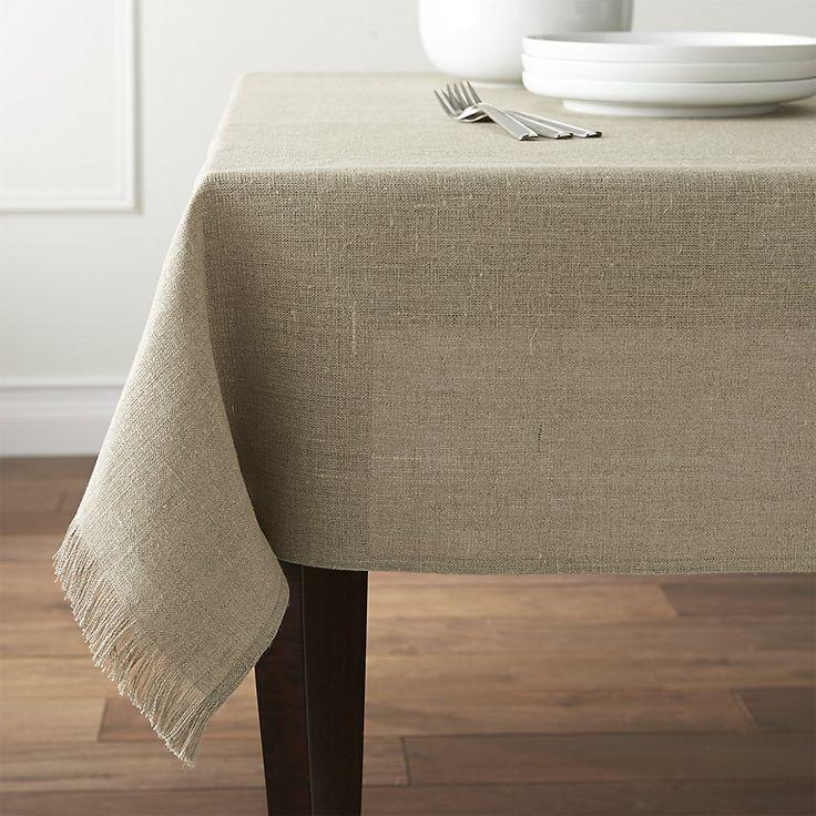 Beckett 60 x120  Natural Linen TableclothBest 25  Linen tablecloth ideas only on Pinterest   Transitional  . Dining Room Linen Tablecloths. Home Design Ideas