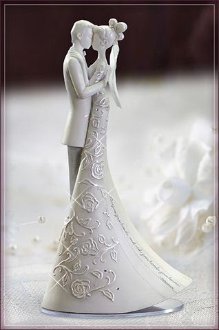 """Cake topper with quotation: """"Now join your hands, and with your hands your hearts."""" - Shakespeare"""