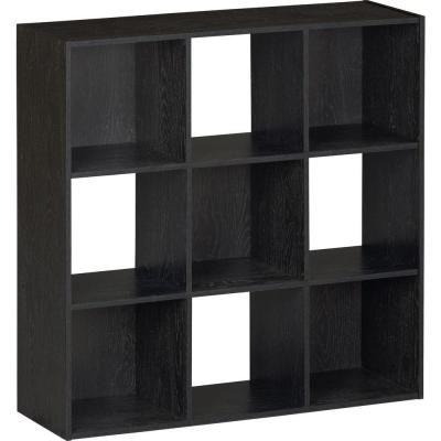 Awesome Black Ebony Ash 9 Cube Storage Organizer