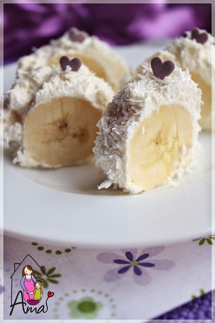 Ama in bucatarie: Desert cu banane si cocos