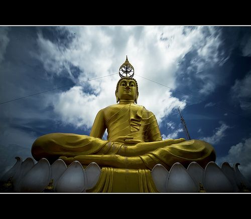 cool Sitting Buddha, Tiger Cave Temple, Krabi Thailand