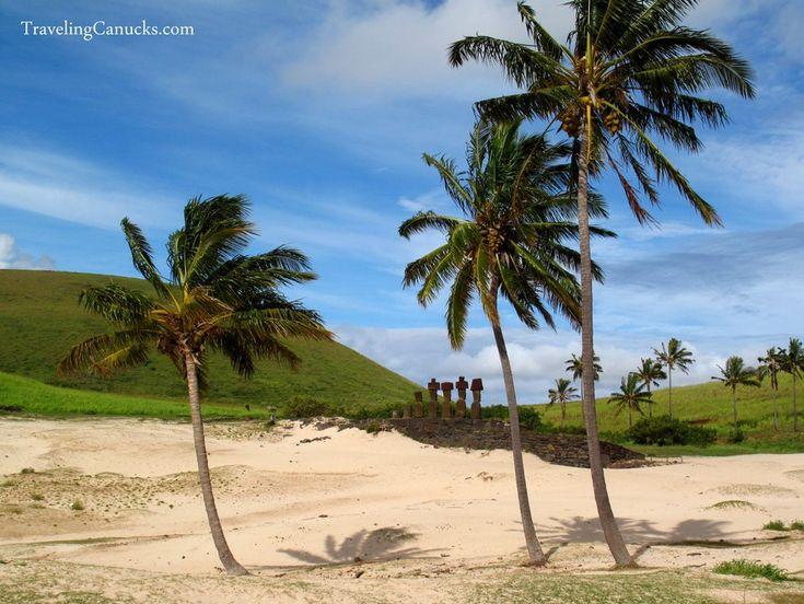 Anakena Beach - Easter Island Chile