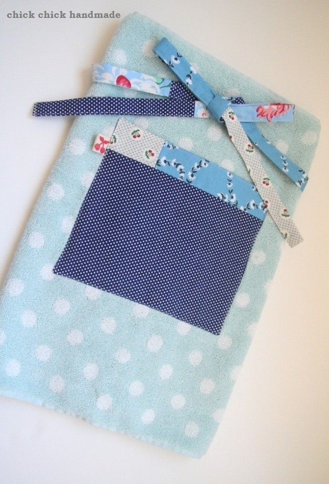 chick chick sewing: hand towel apron