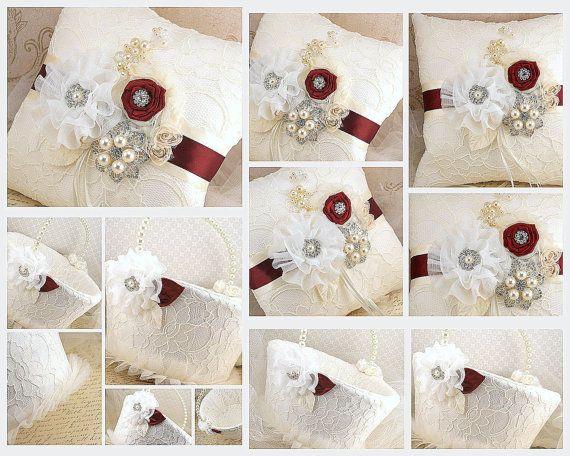 Anillo nupcial portador almohada y la muchacha de flor por SolBijou, $230.00