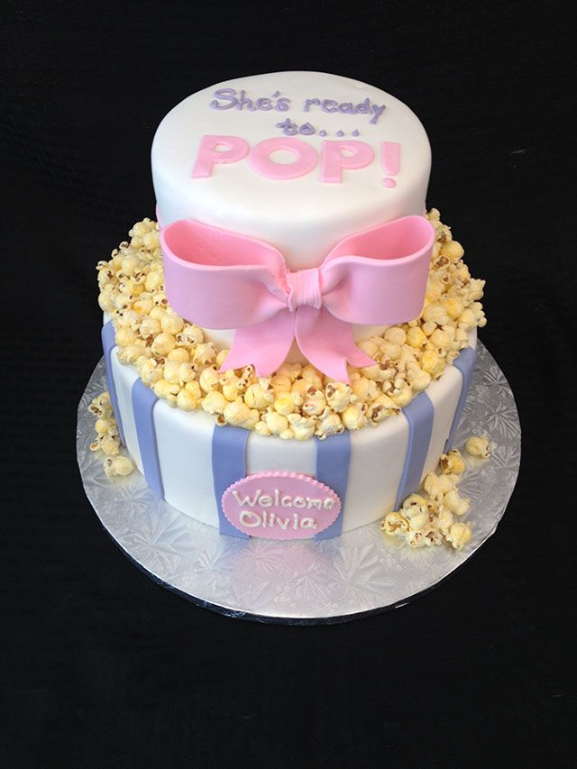 ready to pop baby shower cake - Google Search