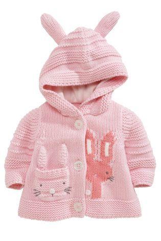 Купить Кардиган с капюшоном и кроликом (0-18мес.) - Покупайте прямо сейчас на сайте Next: Россия