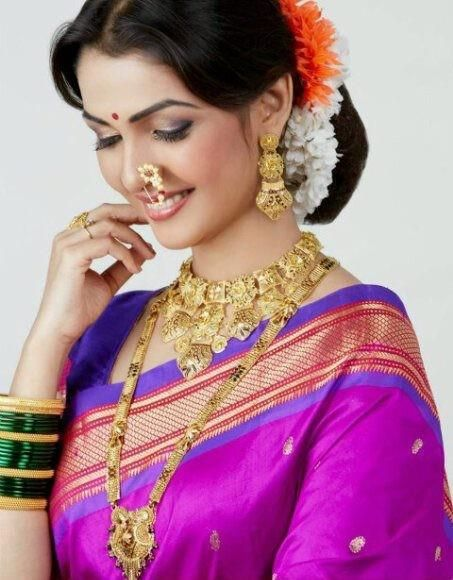 #DidYouKnow The nath is a traditional Marathi nose ring worn by the bride. #jewelleryfacts #nath #Indianweddings #IndianOrnaments #Zurie
