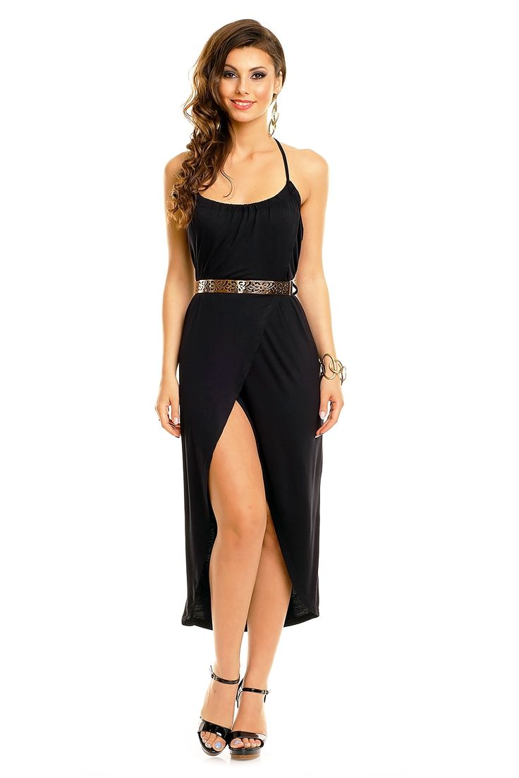 robe de cocktail robe de soir e longue chic fashion tendance noir tm 1803 toufamode. Black Bedroom Furniture Sets. Home Design Ideas