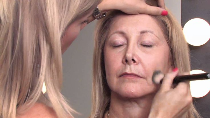 Makeup Tips for Older Women : How to Apply Makeup Right After 50 to Mini...The higher you put the make-up on the side cheeks (toward the side) the more it LIFTS your face.