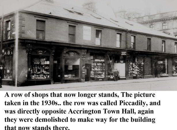 Accrington Observer Nostalgia - Picadilly shops in Accrington